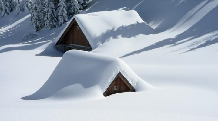 Maltempo in tutto il nord italia con tanta neve e pioggia.